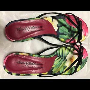 Beverly Feldman sandal, Hawaii tropical theme