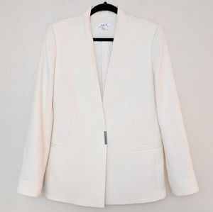 Helmut Lang Size 6 Cream Blazer