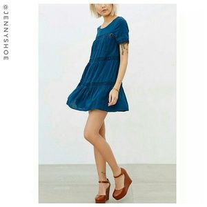 {urban outfitters} lace inset swing tunic