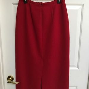 Emma James size 10 red pencil long skirt