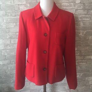 Red Blazer Jacket Top