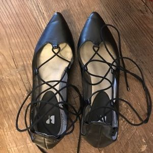 BP lace up ballet flats