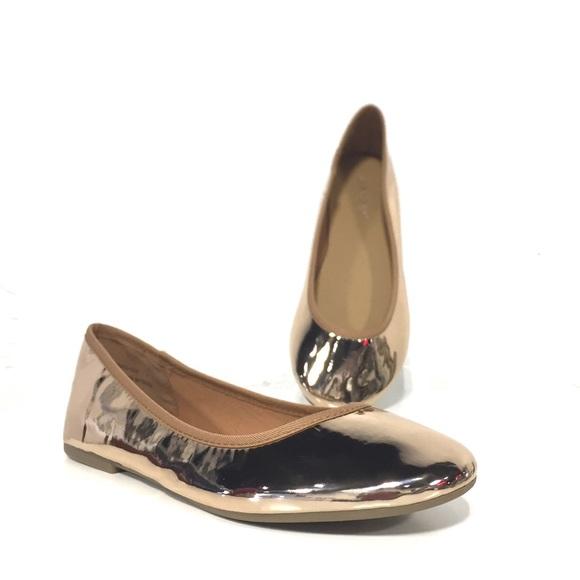 baf8a7080a87 Rose Gold Metallic Ballet Flats
