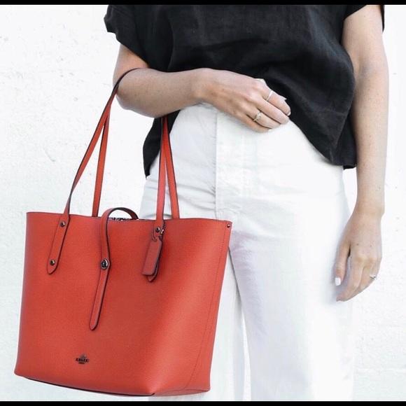 263c6ce92c3 Coach Handbags - Coach Market Tote - Red