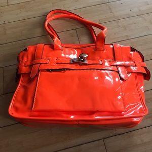 Handbags - neon orange tote