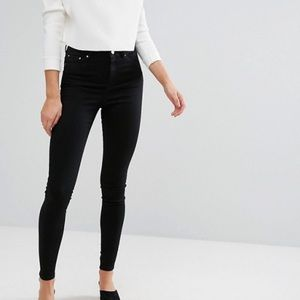 TALL Asos Ridley high waisted black jeans