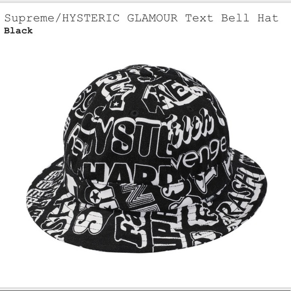4a256eb03e4 Supreme Hysteric Glamour Text Bell Hat