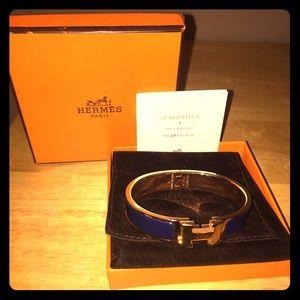 Authentic Blue&Gold Hermes Clic H Bracelet NWOT