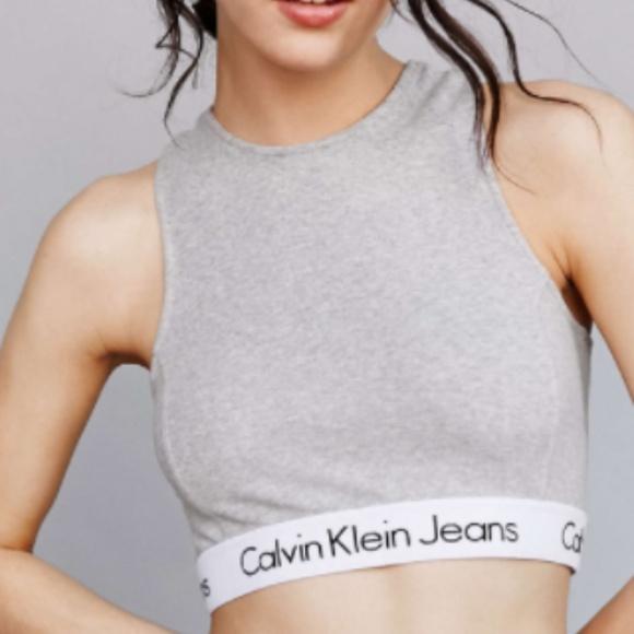 Calvin Klein High Neck Mid Tank Top