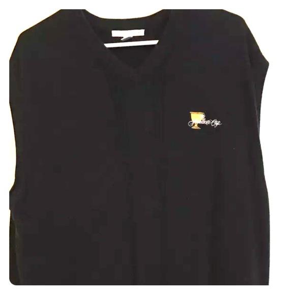694ae95588 Men s Golf Black Vest Presidents Cup XL