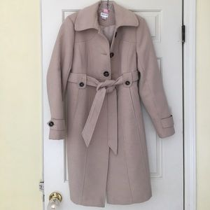 Beige Tan Maternity Coat by Motherhood Maternity M