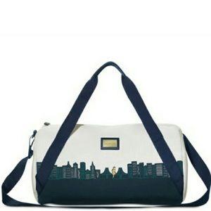 Benefit cosmetics SF skyline duffle bag
