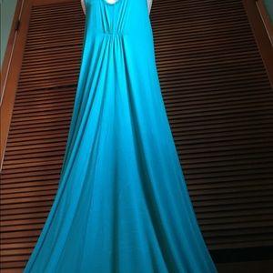 New! LAmade Teal green Maxi dress