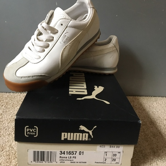58671fd9 Kids CLASSIC PUMA ROMA white gum buttons 2y