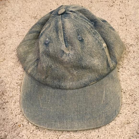 ad37c14e09587 Rosin Headwear denim blue flat brim snap back hat.  M 59babb8b2599feee0701aa09