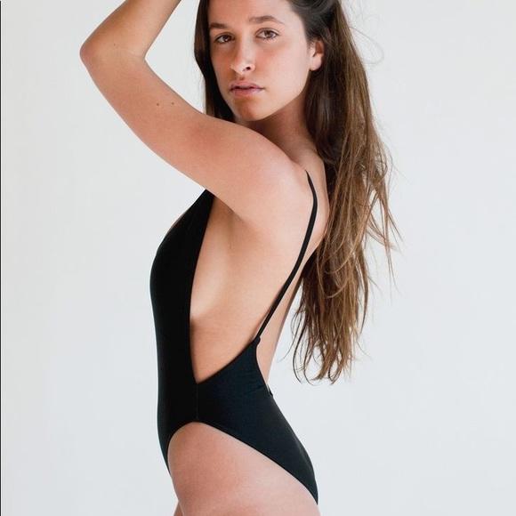 American Apparel Deep Cut Low Back Bodysuit 95f8d1ab5