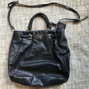 Authentic Prada Leather Convertible Tote