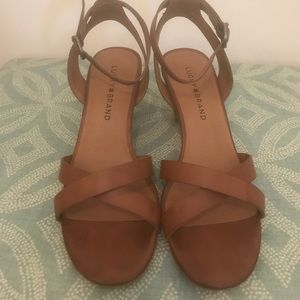 Lucky Brand Tan Strappy Heels