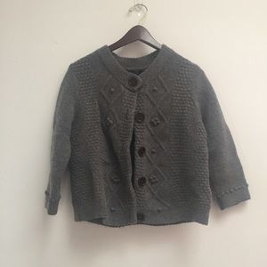 gray boden 100% wool cardigan size 16