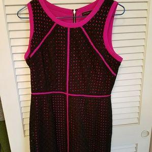 Beautiful IVANKA TRUMP Pink and Black lace dress