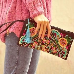 Beautiful Ornate Embroidered Clutch Bag