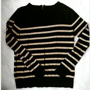 Anne Klein Black and Gold sweater