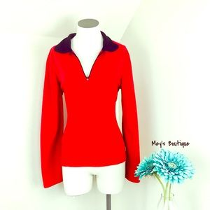 ⭐️Danskin Now Cherry Red Fleece Size M⭐️