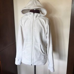 Patagonia Off White Fleece Hoodie Sweatshirt S