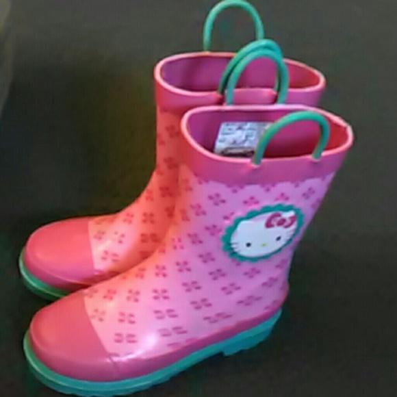 826d0f7dd Sanrio Rain Boots Hello Kitty 11/12 girls. M_59bac5dc2fd0b7c48001d531