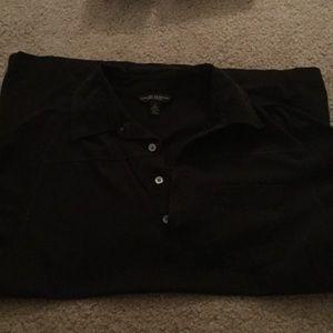 Banana Republic polo shirt, black, medium