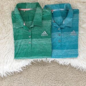 • Adidas Button Up Collar Shirt Bundle •