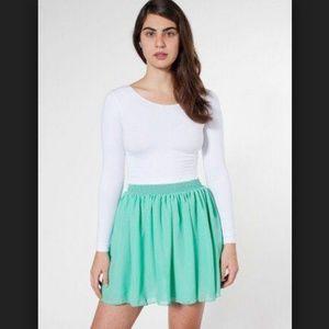 American Apparel Chiffon Skater Skirt