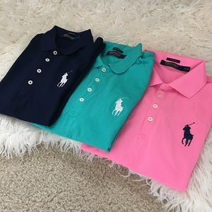 • Polo RL Golf Button Up Collar Shirt Bundle •
