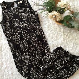 Ann Taylor Maxi Key-Hole Dress