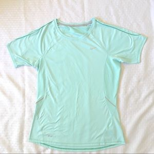 Nike Dri Fit Short Sleeve Tee Shirt Mint Green