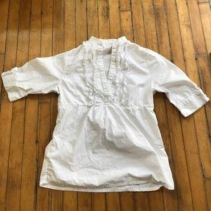 LAMade LA Made cute white tunic blouse sz L