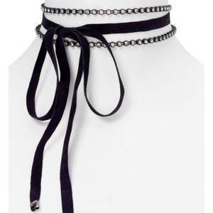 Aqua Goddess Layered Choker Necklace