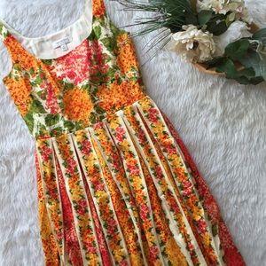 Issac Mizrahi Pleated Floral Garden Dress