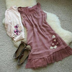 🌹 Blu Pepper Shabby Chic Tunic Dress 🌹