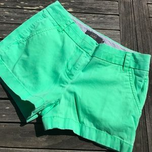 J. Crew Green Chino Shorts 00