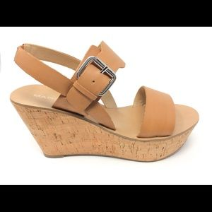 """Marc Fisher """"Oralie"""" Cork Wedge Platform Sandals"""