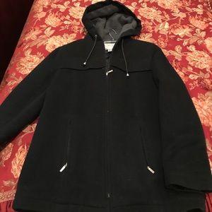 Women's Talbots Petite large wool hooded coat