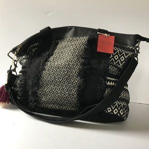 Mossimo Supply Co Boho Fringe Tassel Weekender Bag