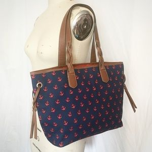 JUST IN 9/14 ⚓️ NWOT Nautical Anchor-Print Tote ⚓️