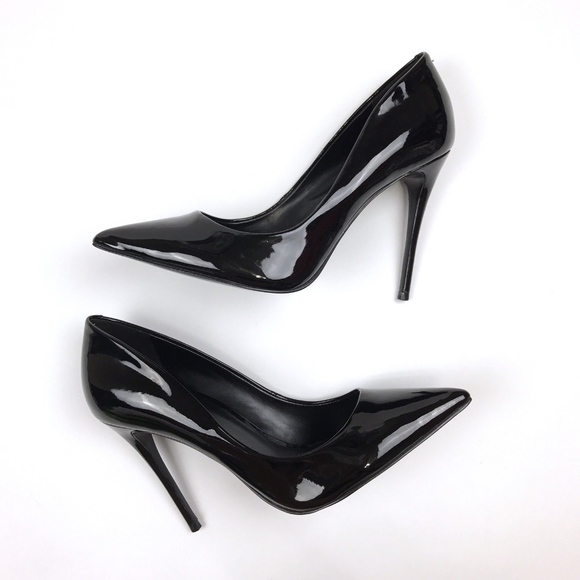 58fb9db8a9a0 Aldo Shoes - ALDO Stessy Pumps Black Pointed Patent Leather