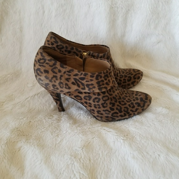 Aerin Shoes - AERIN leopard cheetah ankle booties