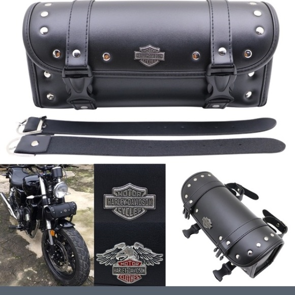 5e6d53b1a581 Tool roll saddle bag for Harley