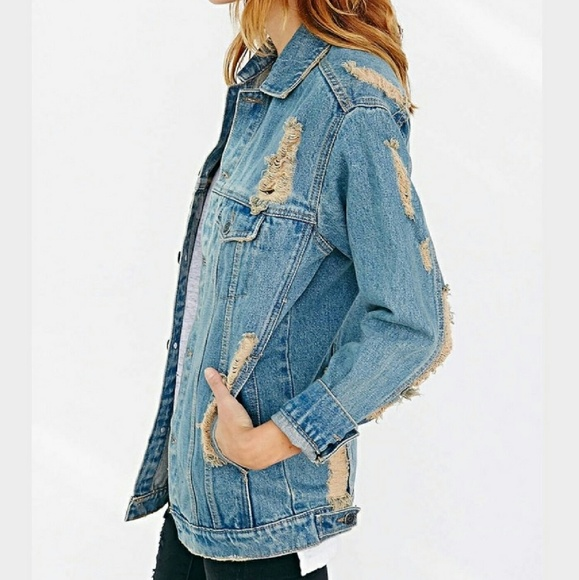 d9cfe8e2 Courtshop BDG Jackets & Coats | Nwt Oversized Distressed Boyfriend ...