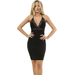 Dresses & Skirts - 🎉 Sale! Lace Deep Plunge Neckline Dress