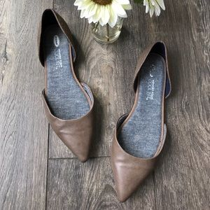 Dr. Scholl's Svetlana d'Orsay flats in grey taupe